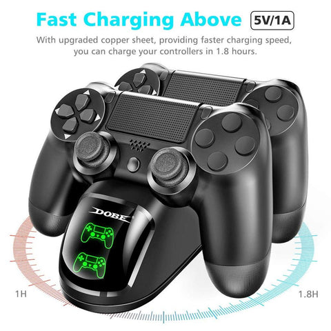 Dual USB Handle Fast Charging Dock Station Stand Charger for PS4/PS4 Slim/PS4 Pro