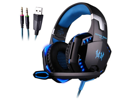 EACH G2000 Stereo Gaming Headsets Big Earbuds Headphones with Light Mic Stereo ps4 pc for Computer