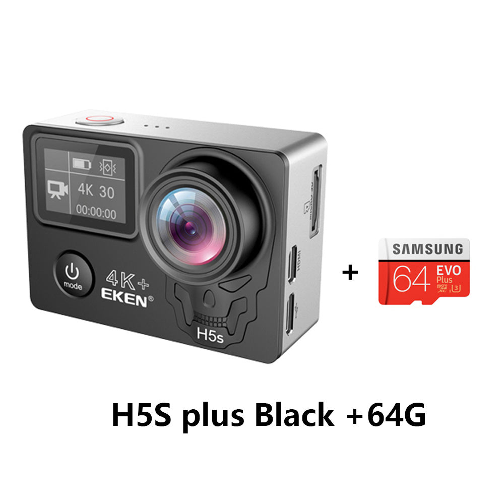 EKEN H5s Plus 4K+ Touch Screen Camera Ambarella A12 Chipset 4K Image Stabilization WiFi Sony
