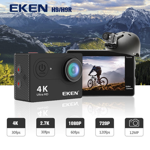 "EKEN H9R / H9 Action Camera Ultra HD 4K / 30fps WiFi 2.0"" 170D Underwater Waterproof Cam"