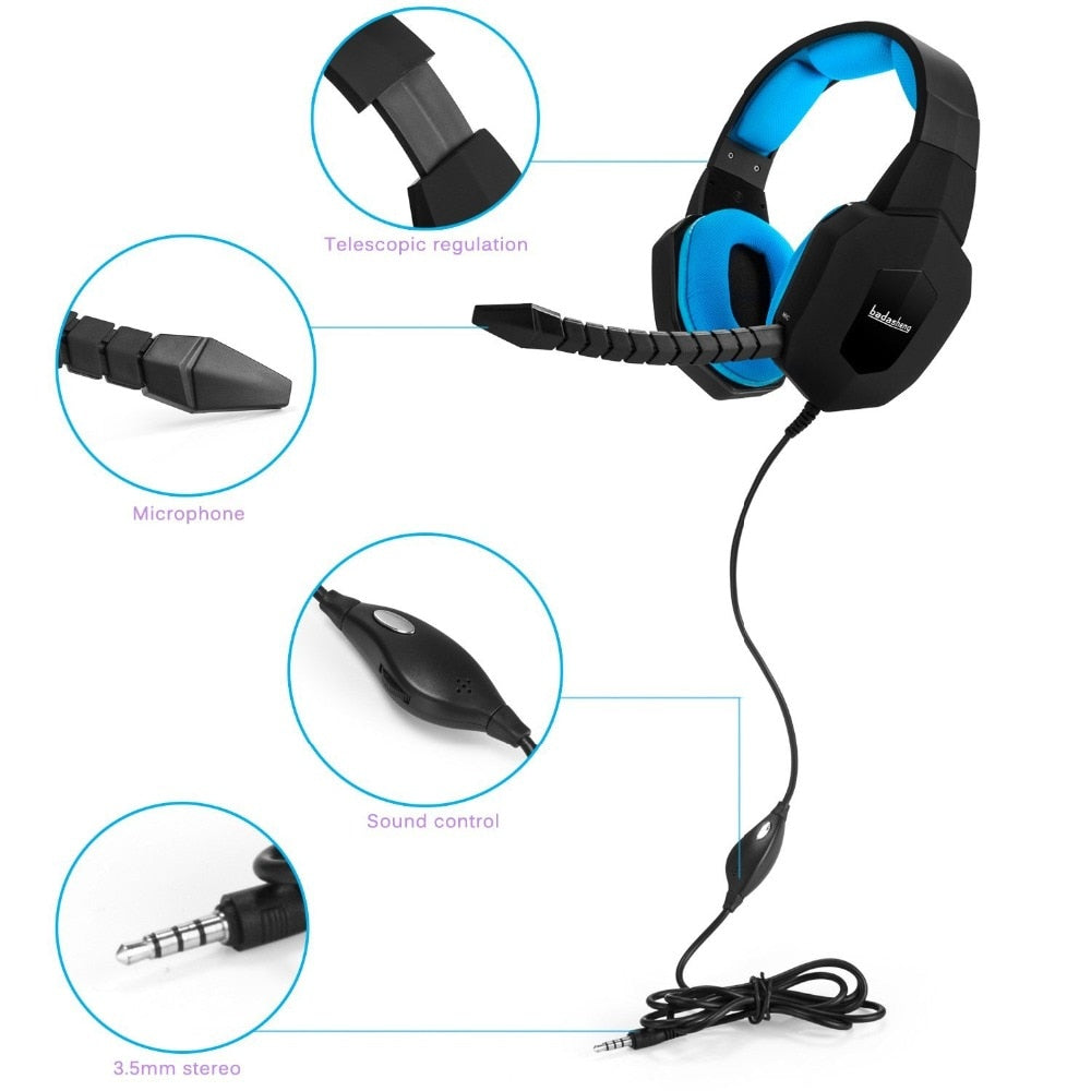 Earphone Gaming Headset Headphone Gamer PC Stereo for computer phone tablet Headphones PS4 Xbox 1
