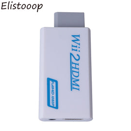 Elistooop for Wii to HDMI Converter Adapter FullHD 1080P Wii to HDMI Wii2HDMI Converter 3.5mm Audio