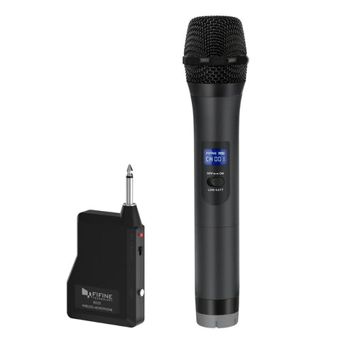 FIFINE UHF Wireless Handheld Dynamic Microphone& Receiver for Outdoor party Wedding Bar Live Show