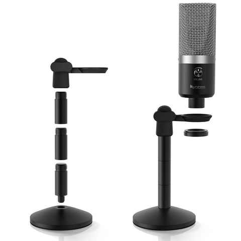FIFINE USB Microphone for Mac laptop and Computers for Recording Streaming Twitch Voice overs