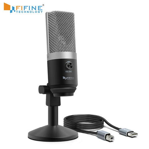 FIFINE USB condenser microphone for computer professional recording MIC for Youtube Skype meeting