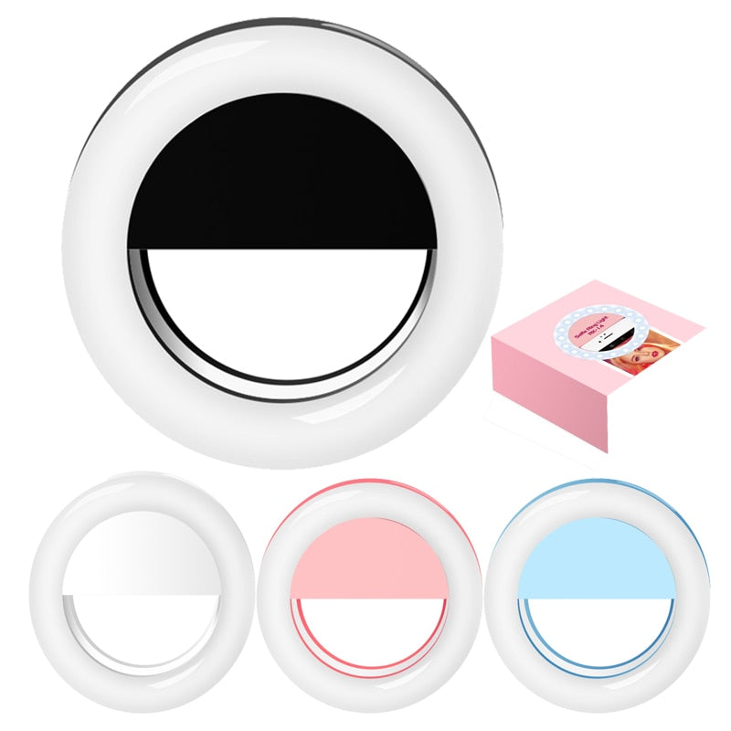 Fashion Rechargeable selfie ring light RK-14 Clip LED selfie flash light adjustable lamp selife