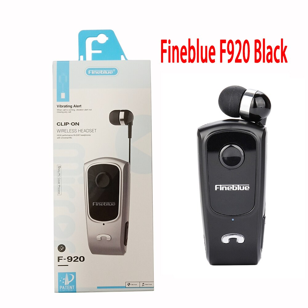 FineBlue F920 8615 Mini Wireless Auriculares Driver Bluetooth Headset Calls Remind Vibration Wear