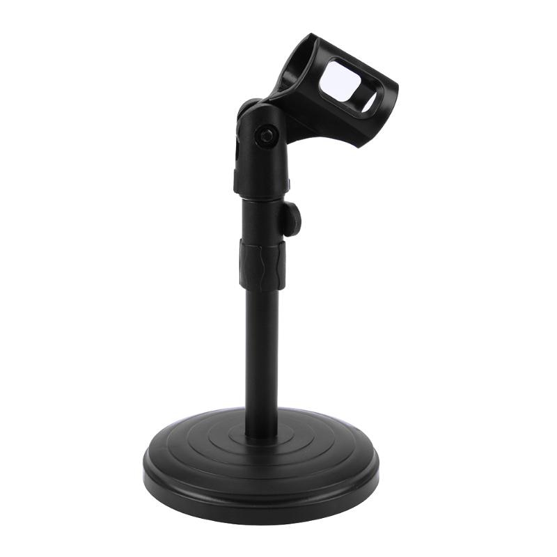 Foldable Desk Table Microphone Clip Stand Table Mic Tripod Adjustable Holder Strong Stable