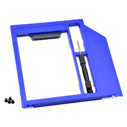 "For Macbook Pro Unibody 13"" 15"" 17"" SuperDrive Plastic Universal 2nd HDD Caddy 9.5mm SATA 3.0 SSD"
