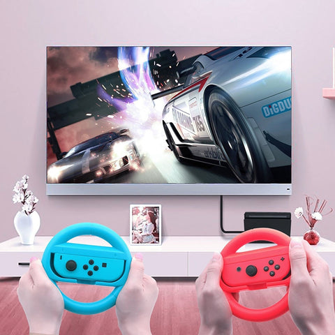 For Nintend Switch ABS Steering Wheel Handle Stand Holder Left Right Joy-Con Joycon For Nintend