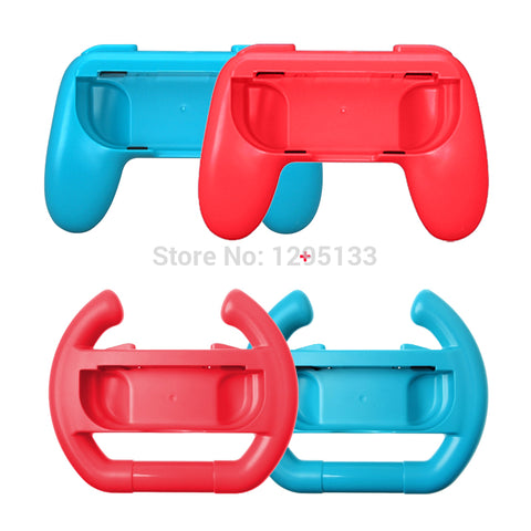 For Nintend Switch Joycon Left Right Comfort Hand Grips Holder + Steering Racking Wheels for Nitendo