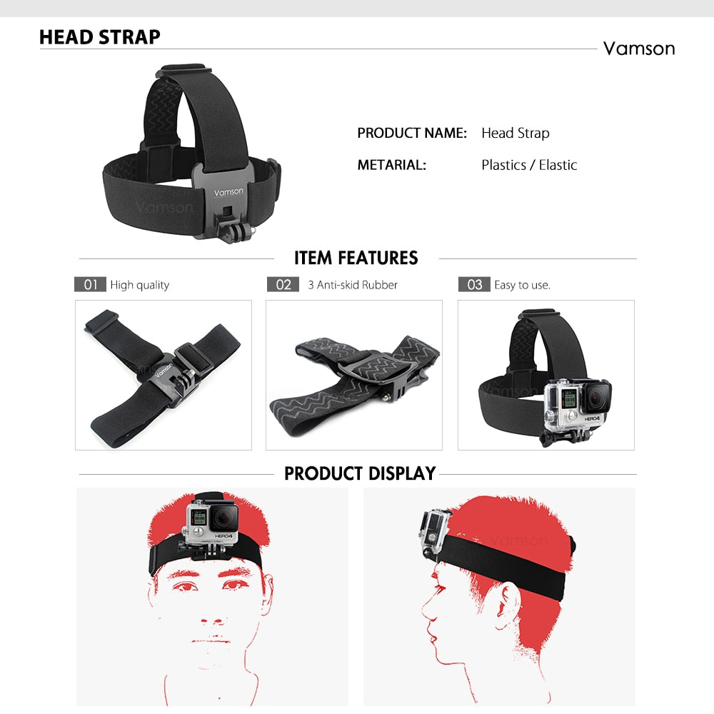 For Xiaomi for Yi Chest Strap Belt Head Strap Set Mount 360 Degrees Rotation Wrist Strap For Gopro
