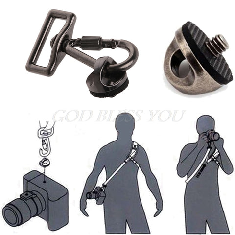 SLR DSLR Camera 0.25in Screw Connecting Adapter Hook For Shoulder Sling Strap