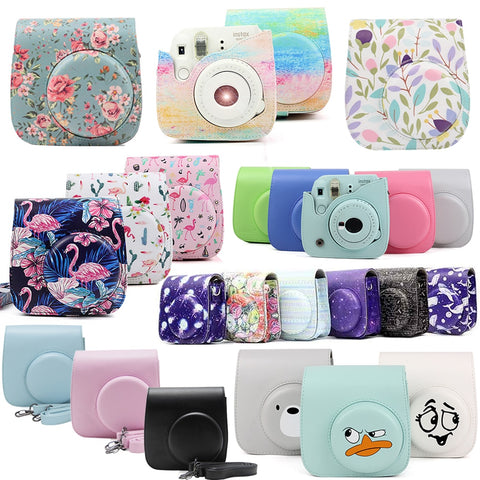 Fujifilm Instax Mini Camera Case Bag PU Leather Cover with Shoulder Strap For Instax Mini 9 Mini 8