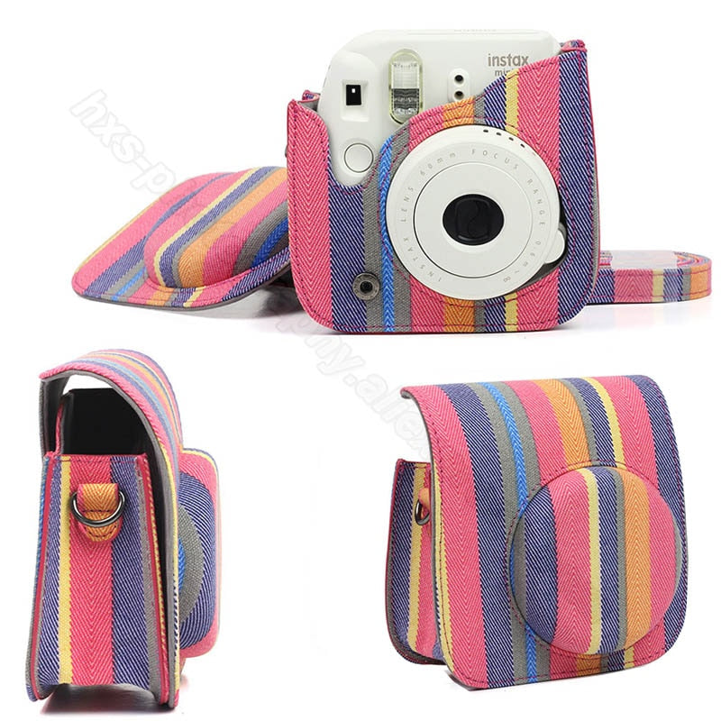 Fujifilm Instax Mini Camera Case Quality PU Leather Shoulder Bag with Strap