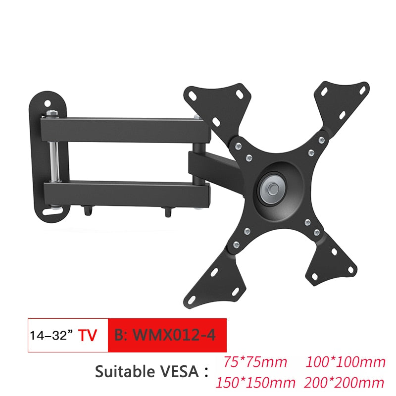 Full Motion TV Wall Mount TV Bracket for 10-70 Inch Tilt Swivel Bracket TV Stand PC Monitor Mount