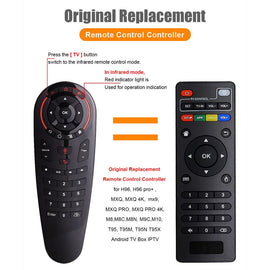 G30S Voice Air Mouse universal Remote control 33 keys IR learning Gyro Sensing Wireless Smart Remote