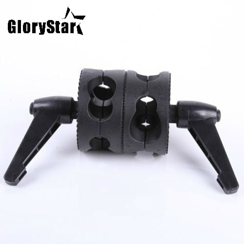 Glory Star Swivel Dual Head Grip Holder Bracket for Photo Studio Boom Reflector Arm Support Dual