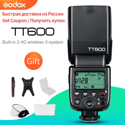 Godox TT600 2.4G Wireless GN60 Master/Slave Camera Flash Speedlite for Canon Nikon Sony Pentax