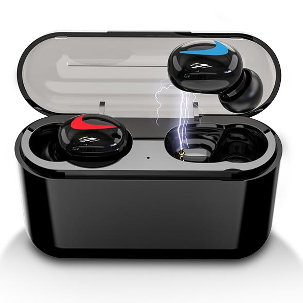 HBQ Bluetooth 5.0 Earphones Portable TWS Wireless In-ear 3D Stereo Sound With Mic Handsfree Sports