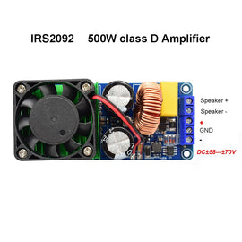 HIFI Power IRS2092 500W Mono channel Digital power amplifier board Class D Stage