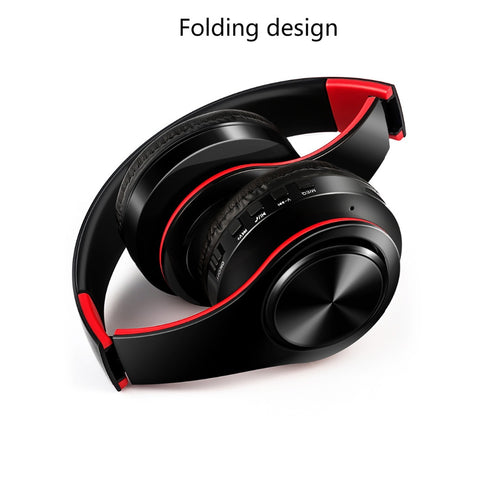 HIFI Stereo Earphones Bluetooth Headphone Music Headset FM and Support SD Card with Mic