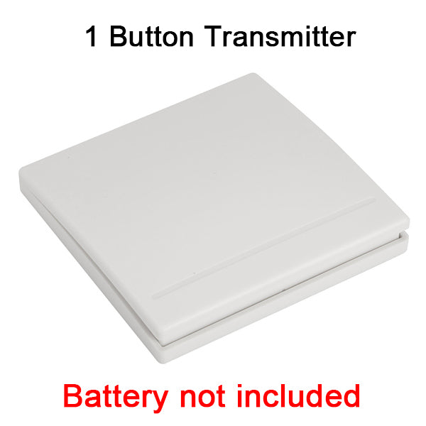 QIACHIP 86 Wall Panel Wireless Remote Transmitter 1 2 3 Button RF Switch For Light Lamp Bulb Home