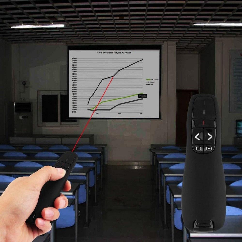 R400 2.4Ghz USB Wireless Presenter Red Laser Pen Pointer PPT Remote Control with Handheld Pointer