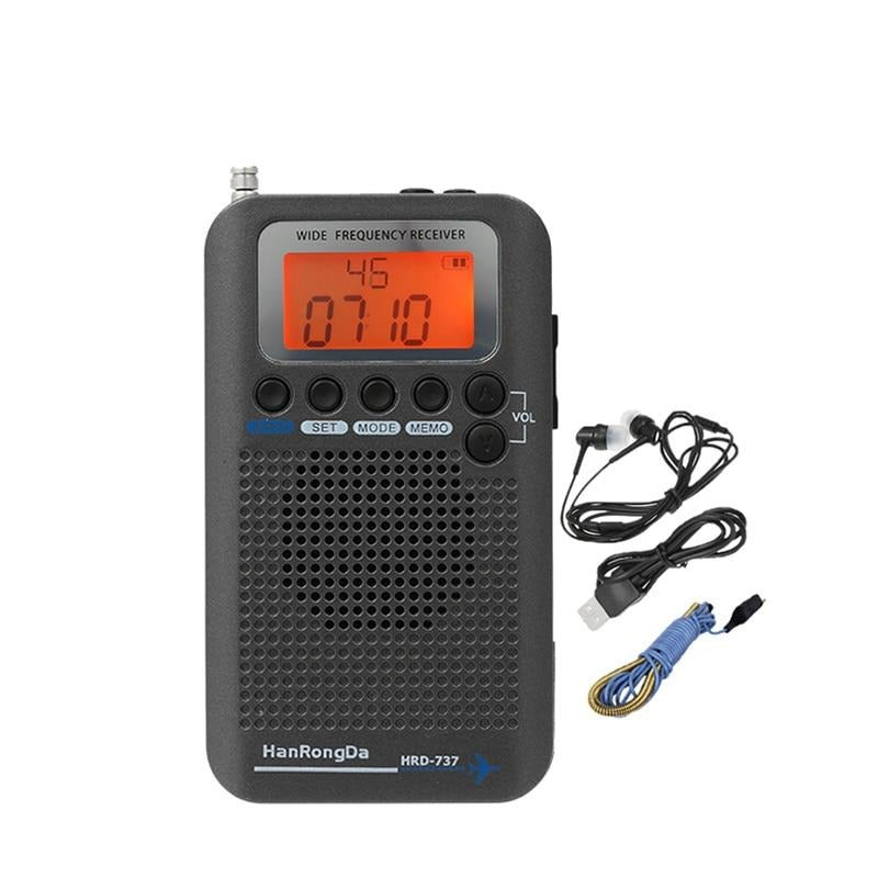 HanRongDa HRD-737 Portable Radio Aircraft Full Band Radio FM/AM/SW/CB/Air/VHF Receiver World Band
