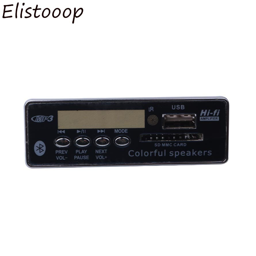 Hands-free USB Bluetooth Integrated MP3 Player Decoder Board Module with Remote Control FM Aux Radio