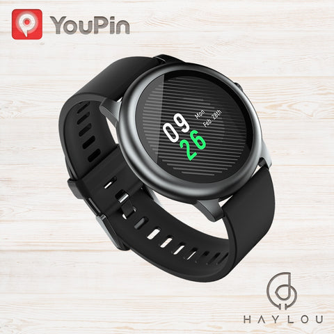 Haylou Solar LS05 Smart Watch Sport Metal Heart Rate Sleep Monitor IP68 Waterproof iOS Android