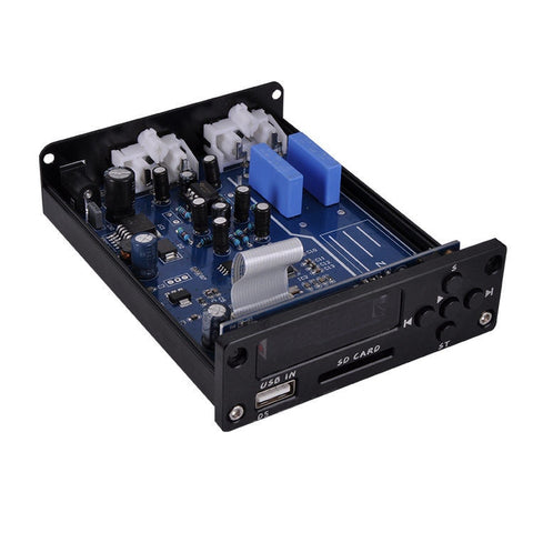 HiFi Lossless Music Player Mini Pre-Amplifier Stereo Preamp USB SD Audio Decoder Preamplifier D6