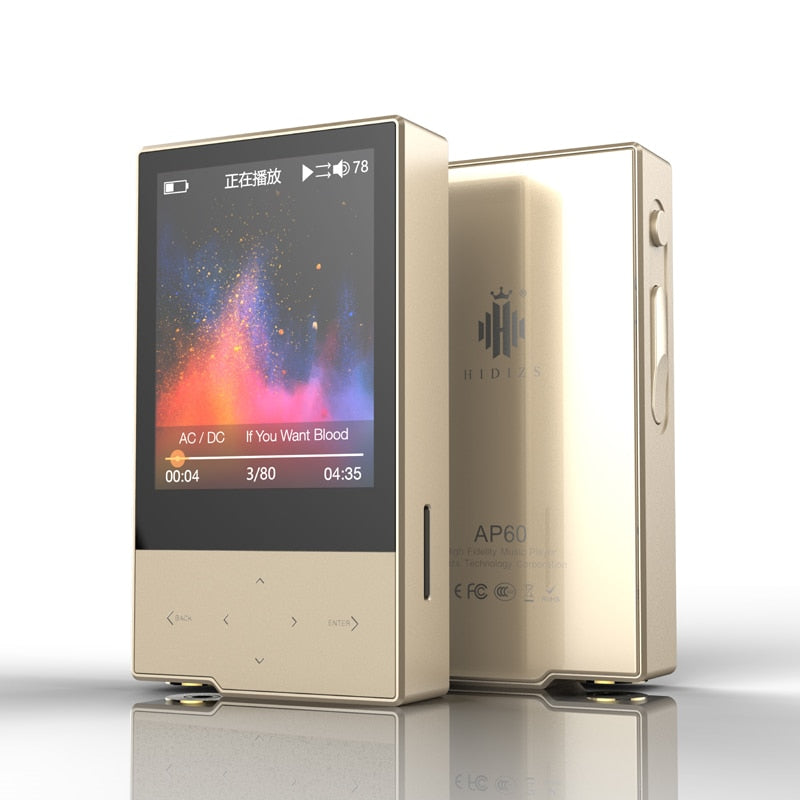 Hidizs AP60 II HiFi Potable Bluetooth 4.0 Apt-x DSD USB DAC FLAC AAC APE MP3 Music Player