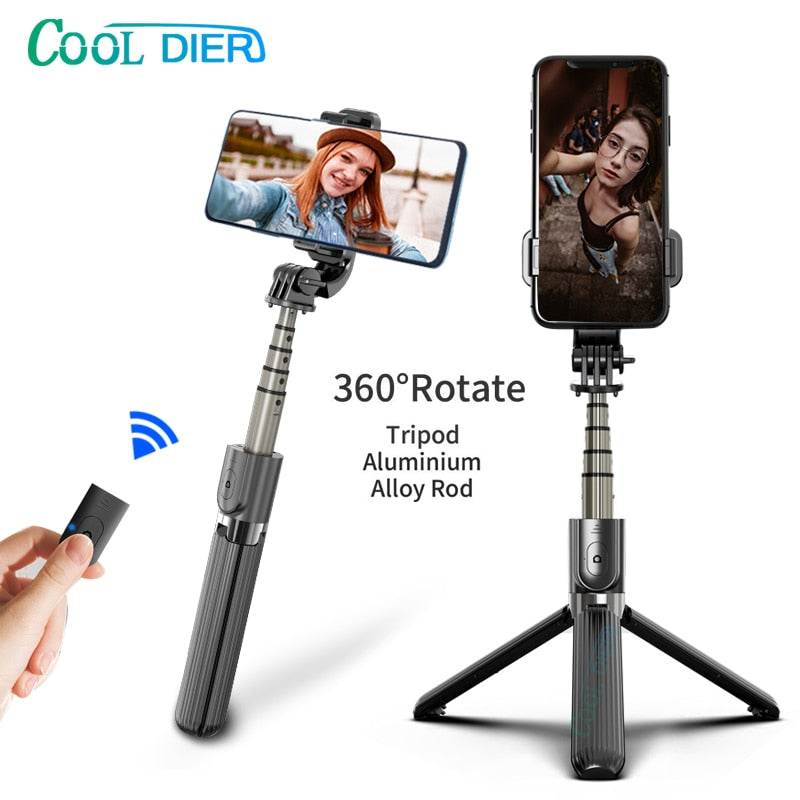 High quality Wireless bluetooth Selfie Stick Tripod With Remote Palo Selfie Extendable Foldable Monopod