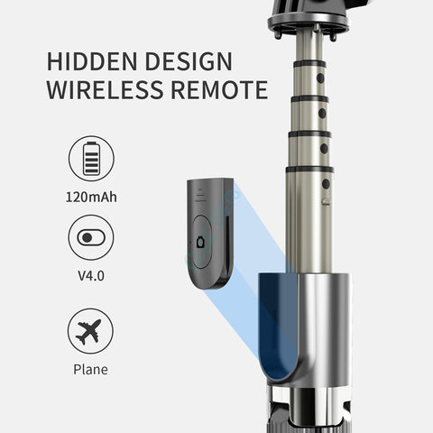 High quality Wireless bluetooth Selfie Stick Tripod With Remote Palo Selfie Extendable Foldable