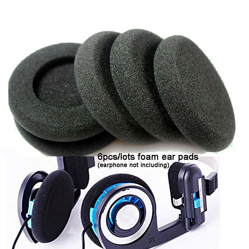 Hot selling 6pcs/lots Replacement Earphone Ear Pads Earpads Sponge Soft Foam Cushion