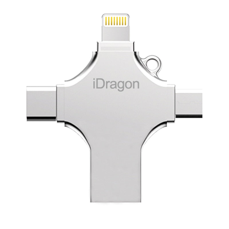 4 in 1 USB Flash Drive 256GB 16GB 32GB pendrive 128GB OTG idragon metal usb stick