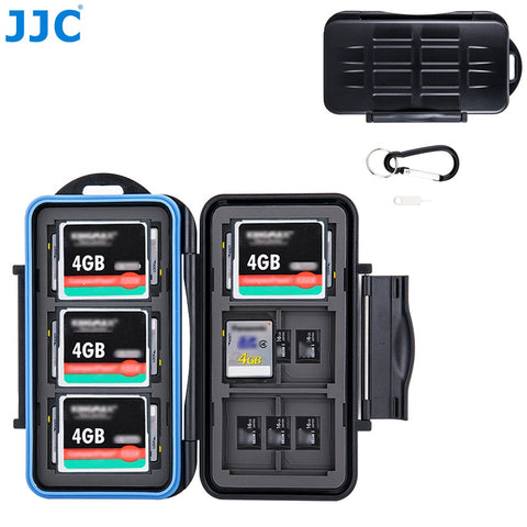 JJC Memory Card Storage SD/MSD/CF Cards Case Water-Resistant Box