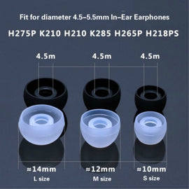 KEITHNICO 12Pairs Silicone Ear Tips Replacement Earbud Earphone Ear Buds Covers