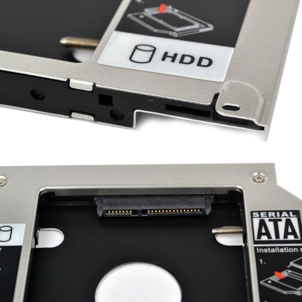 "Kebidu HDD Caddy 9.5mm Second SATA 2.5"" Hard Disk Drive SSD Enclosure for Apple Macbook Pro A1297"