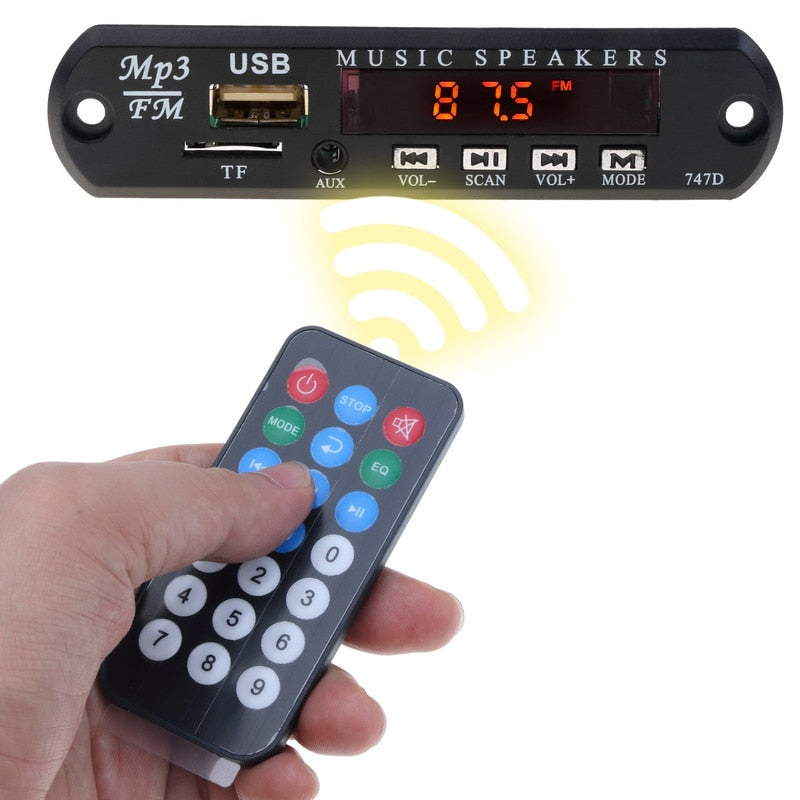Kebidu Hot WMA USB FM AUX TF Radio MP3 Decoder Audio Board No Bluetooth With Remote Music Speaker