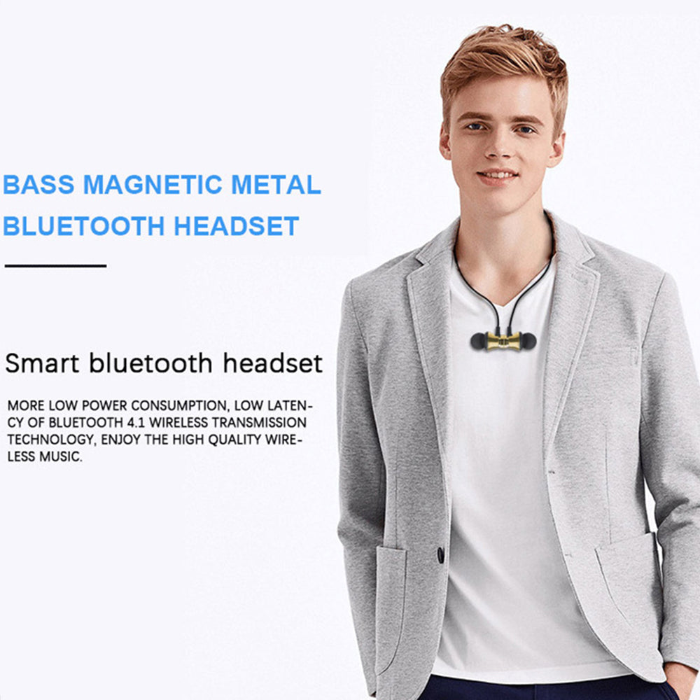 LAUMOX Magnetic Music bluetooth Earphone 4.2 XT11 Sport Neckband Wireless Headset Waterproof With
