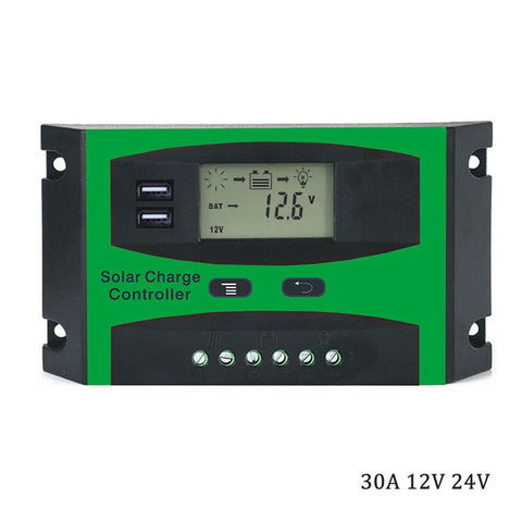 LCD 10A 20A 30A 12V 24V Solar Panel System generator cell Panel Charger Regulator Battery Controller