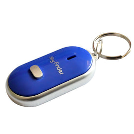 LED Key Finder Locator Find Lost Keys Chain Keychain Whistle Sound Control GDeals