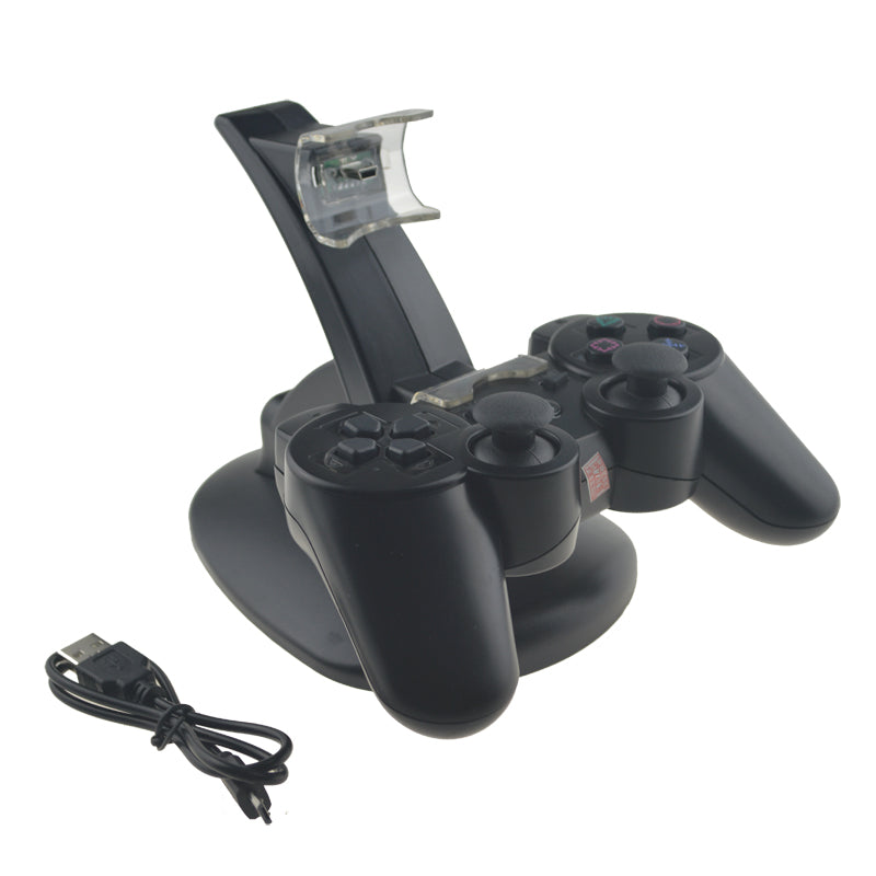 LED Light Dual Charge USB Charging Dock Stand Charger For PlayStation 3 Controller Console For PS3