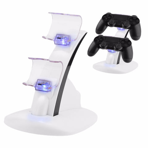 LED Micro Dual Controller Holder Charger 2 LED Micro USB Fast Charging Dock Station Stand Charger