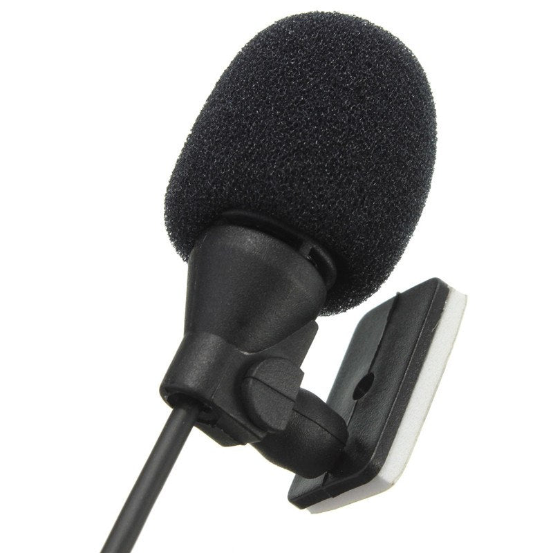 LEORY 3.5mm Jack Plug Mic Mono Mini Car Audio Microphone Portable Clip-on Lapel Wired External