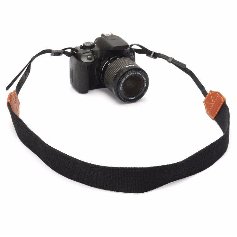 LEORY Hot Nylon Leather DSLR Shoulder Neck Camera Strap Belt For Canon For Nikon For Sony Digital