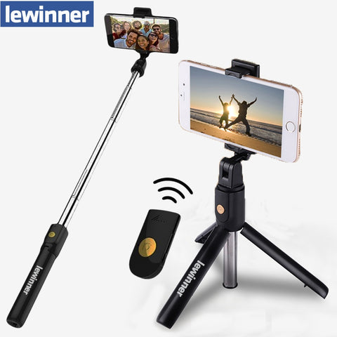 Lewinner 3 in 1 Wireless Bluetooth Selfie Stick Mini Tripod Extendable Monopod Universal