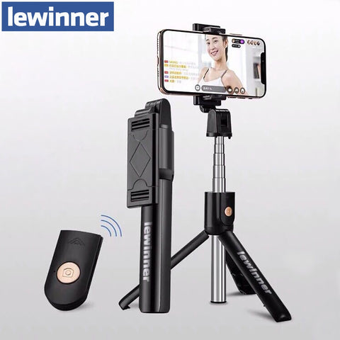 Lewinner 3 in 1 Wireless Bluetooth Selfie Stick for iphone/Android Foldable Handheld Monopod Shutter